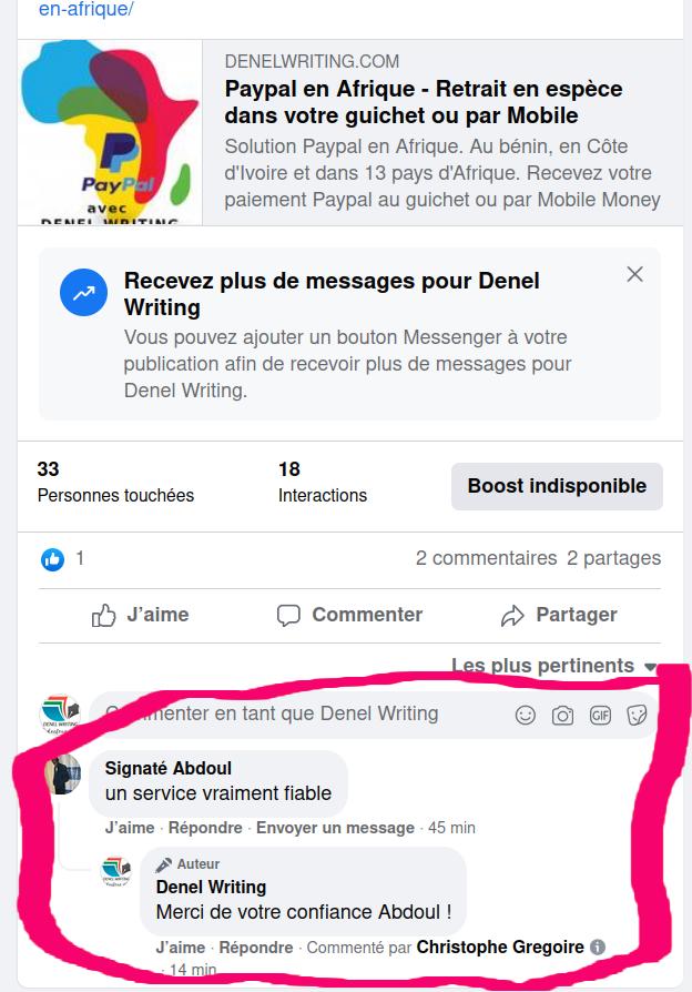 Paypal au Bénin